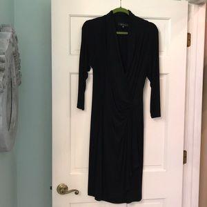 Karen Kane Classic black wrap dress- never worn